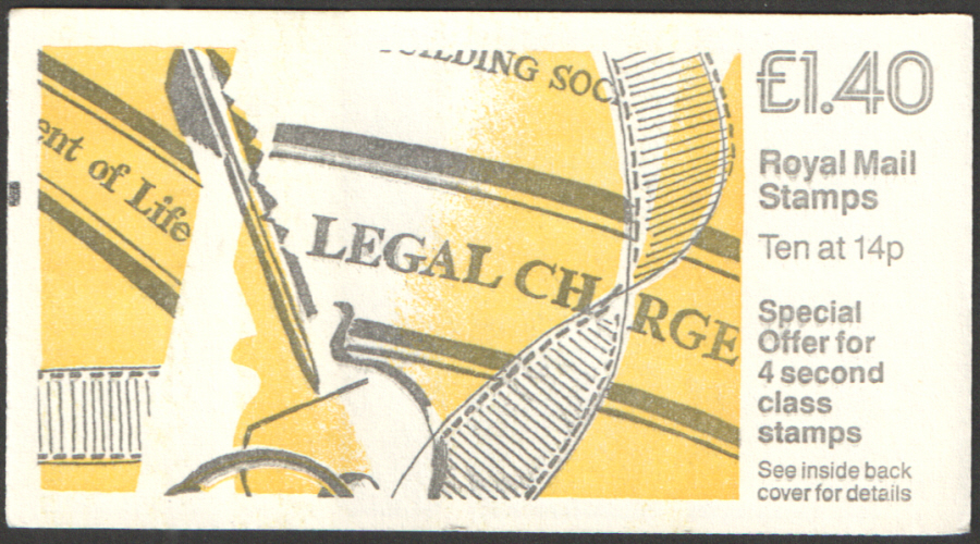 FM5B / DB7(42)A + BMB £1.40 Legal Charge Right Margin Folded Booklet