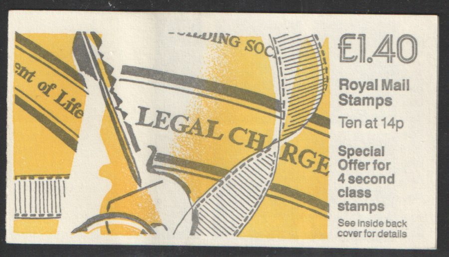 FM5A / DB7(42)/1 Phosphor Part Omitted Cyl B18 £1.40 Legal Charge Left Margin Folded Booklet