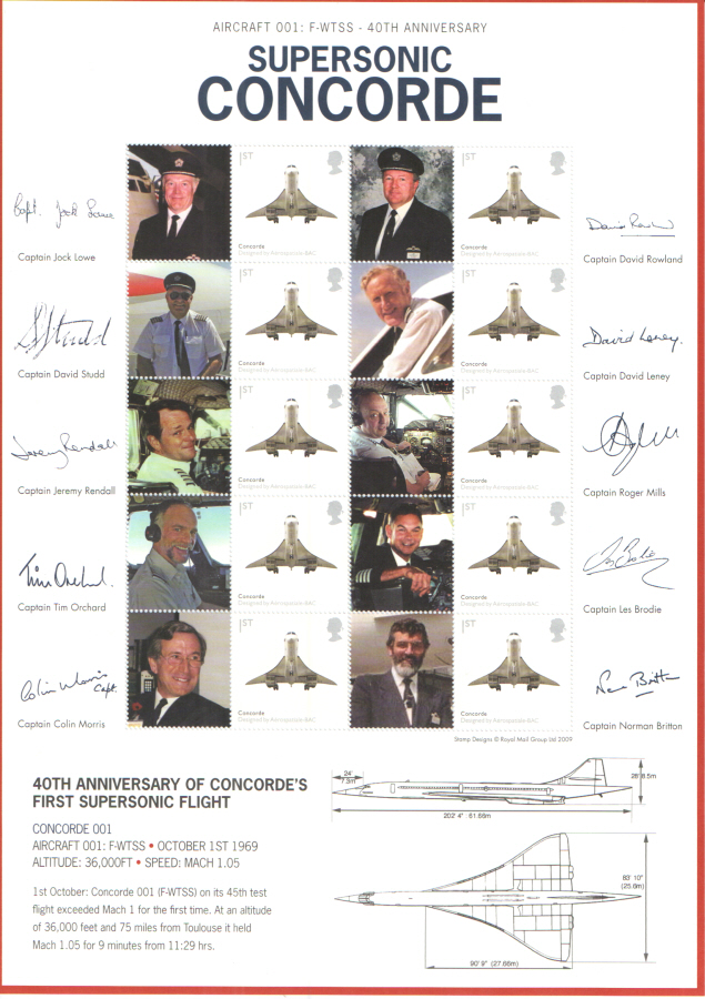 BC-253 2009 Supersonic Concorde Business Smilers Sheet