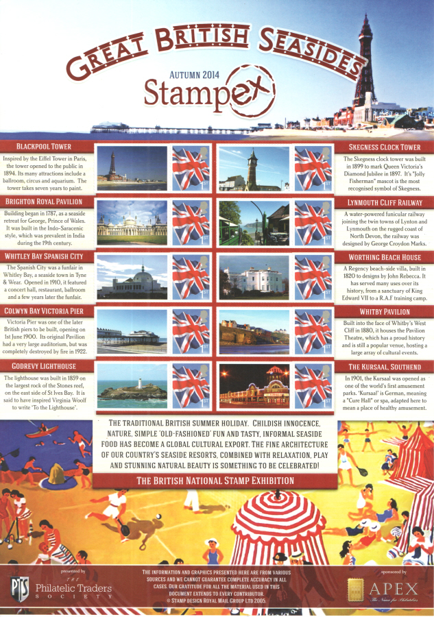 BC-442 2014 Autumn Stampex Business Smilers Sheet