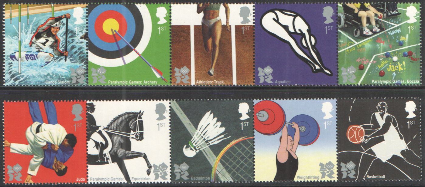 SG2981 / 90 2009 Olympic & Paralympic Games unmounted mint set of 10