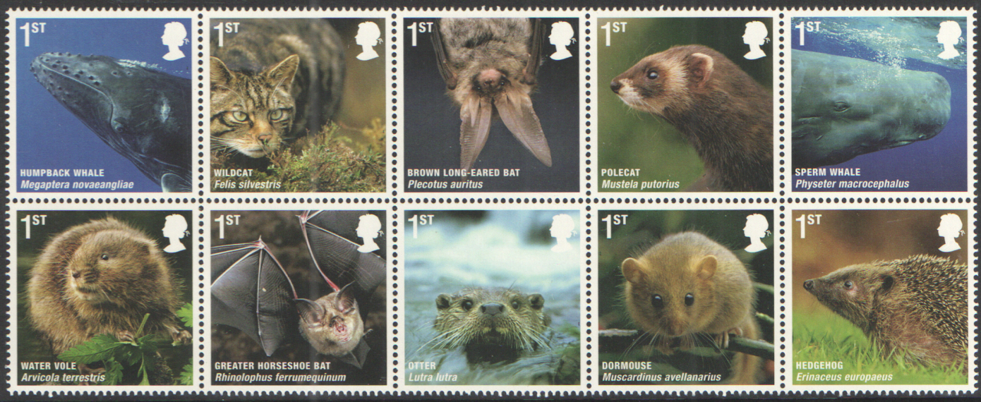 SG3054 / 63 2010 Mammals unmounted mint set of 10