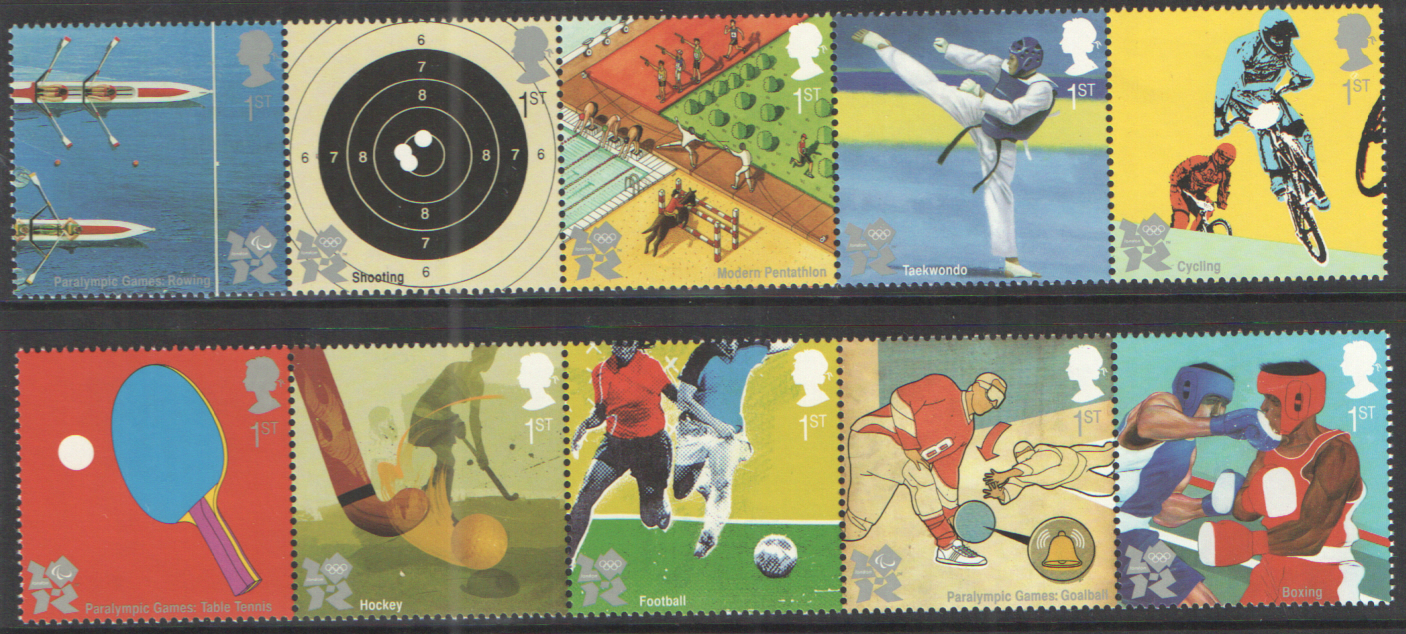 SG3097 / 06 2010 Olympic & Paralympic Games unmounted mint set of 10