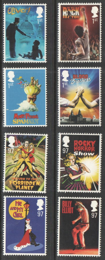 SG3145 / 52 2011 Musicals unmounted mint set of 8