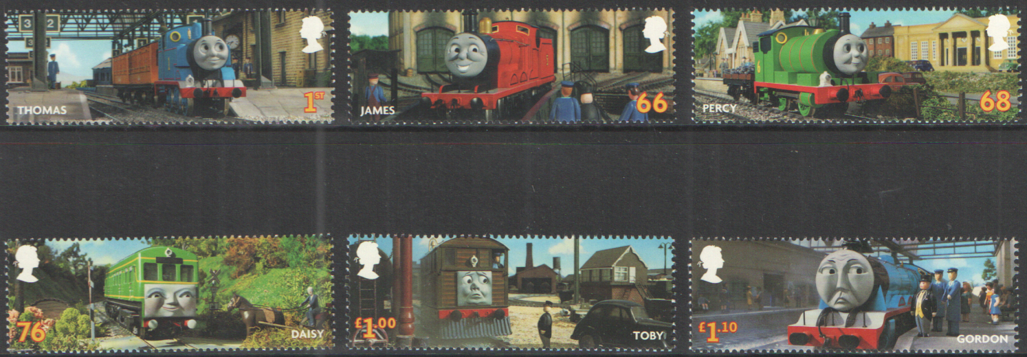 SG3187 / 92 2011 Thomas The Tank Engine unmounted mint set of 6