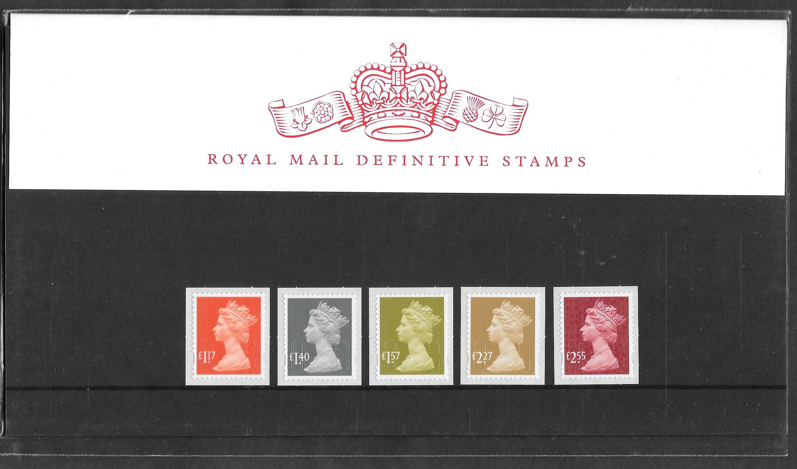2017 Machin Definitive Royal Mail Presentation Pack 106