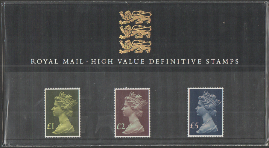 1977 Machin High Value Definitive Royal Mail Presentation Pack 13