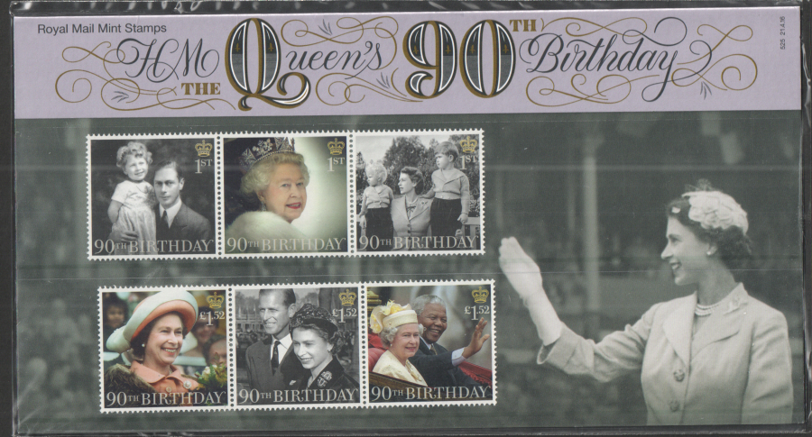 2016 HM The Queen's 90th Birthday Royal Mail Presentation Pack 525
