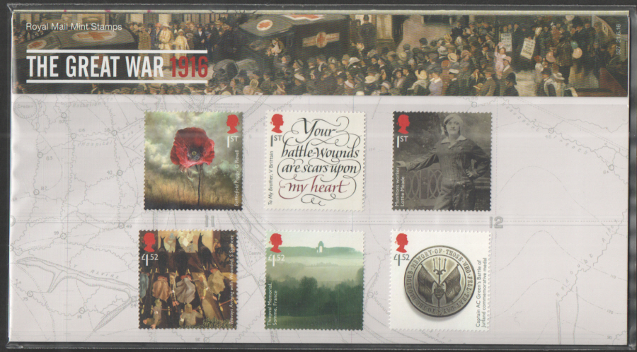 2016 Error (Albert Knight) The Great War 1916 Royal Mail Presentation Pack 527