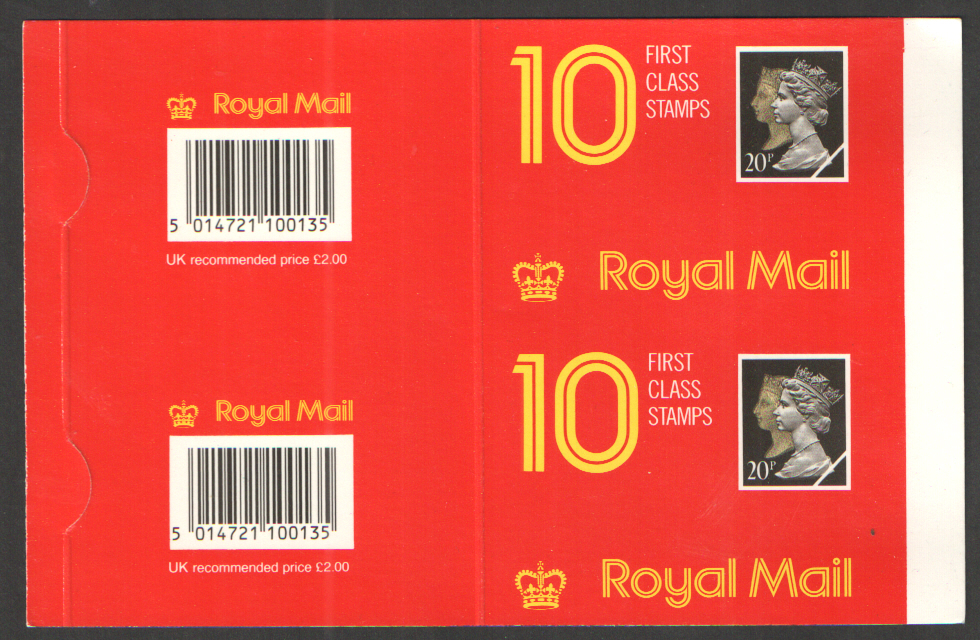 Uncut pair of Type 4 Harrison Penny Black Anniversary booklet covers