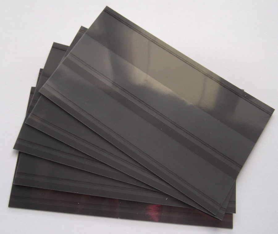 100 Stockcards 148 x 85mm 2-strips with coverfoil