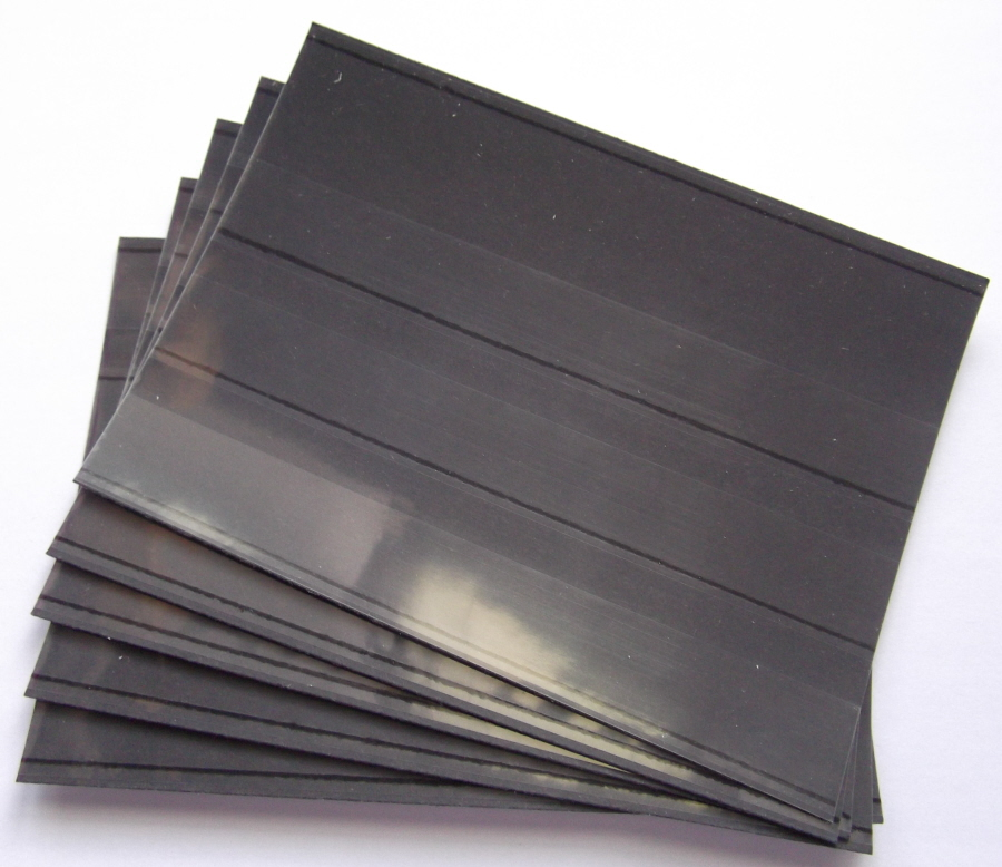 100 Stockcards 158 x 111mm 3-strips with coverfoil