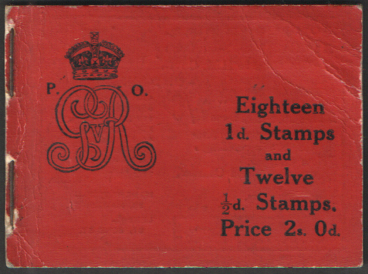 BB1 August 1911 George V 2/- Stitched Booklet