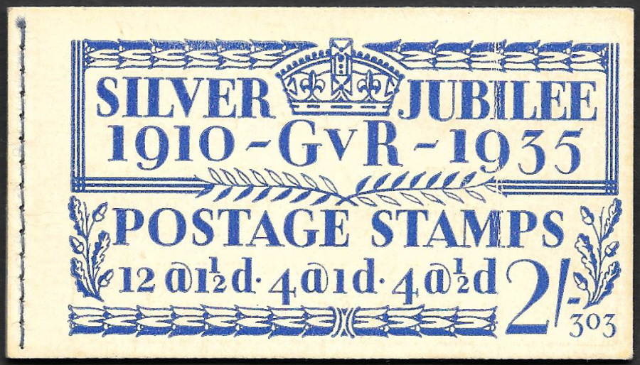 BB16 George V 1935 Silver Jubilee 2/- Edition 303 Stitched Booklet