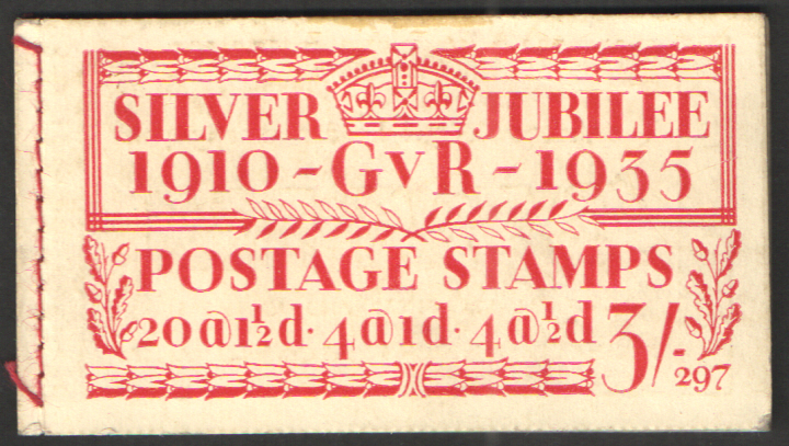 BB28 George V 1935 Silver Jubilee 3/- Edition 297 Stitched Booklet