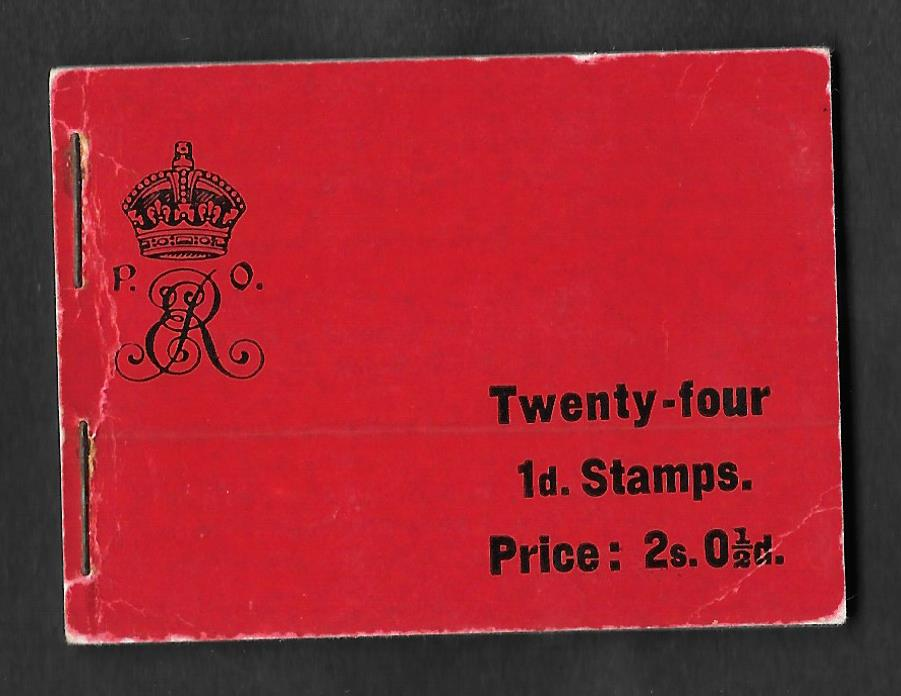 BA1 March 1904 Edward VII 2s 0.5d Stitched Booklet