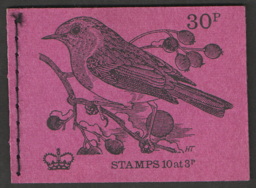 DQ60 / DB3(5)/2 Postcode Incorrect Oct 1971 30p Stitched Booklet