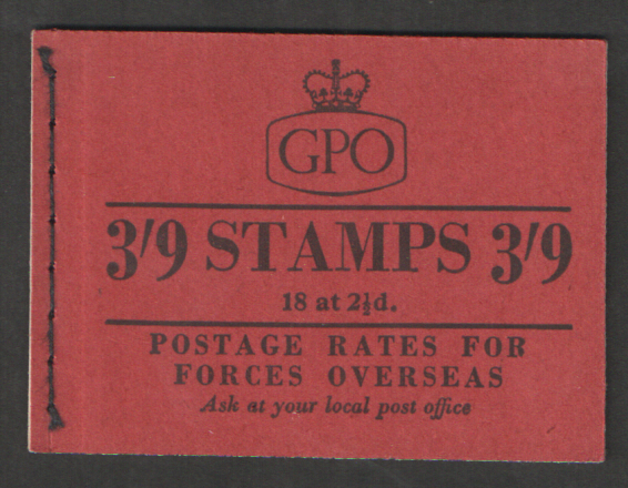 G20 June 1957 Elizabeth II 3/9 Stitched Booklet