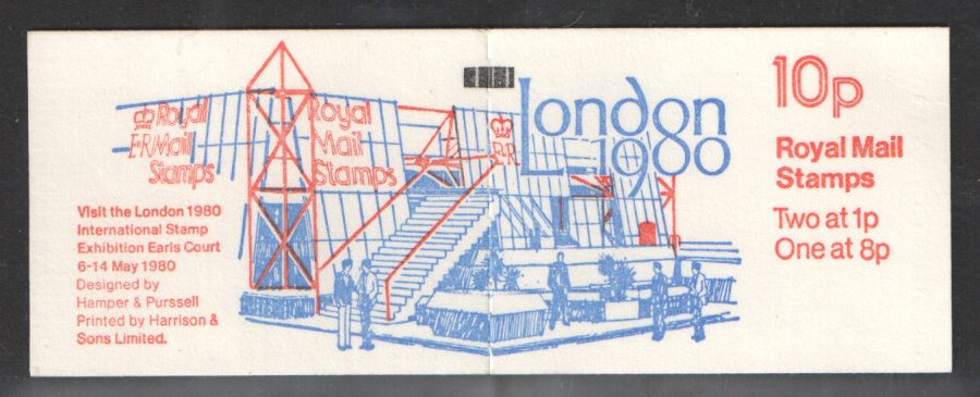FA10 / DB6(10) + BMB Perf P1 London 1980 10p Folded Booklet