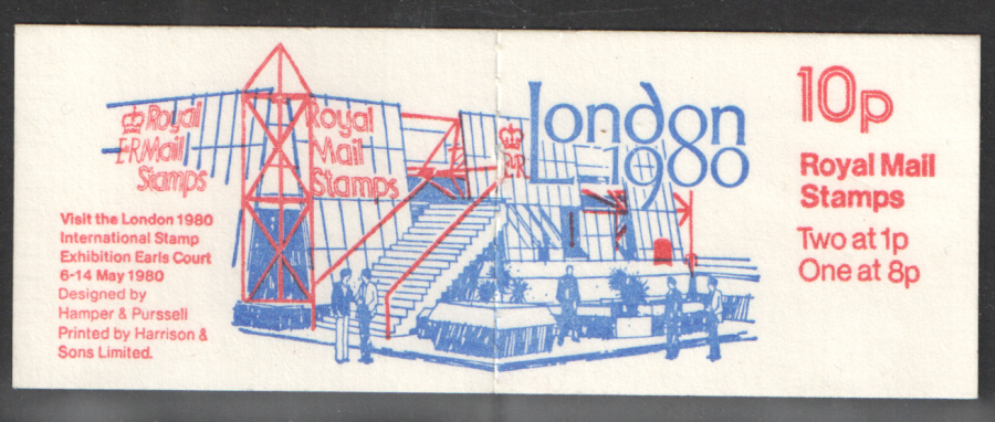 FA10 / DB6(10) Perf P1 London 1980 10p Folded Booklet