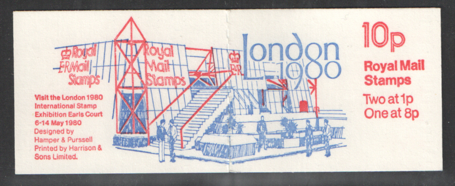 FA11 / DB6(11) Jumelle Perf P1 London 1980 10p Folded Booklet