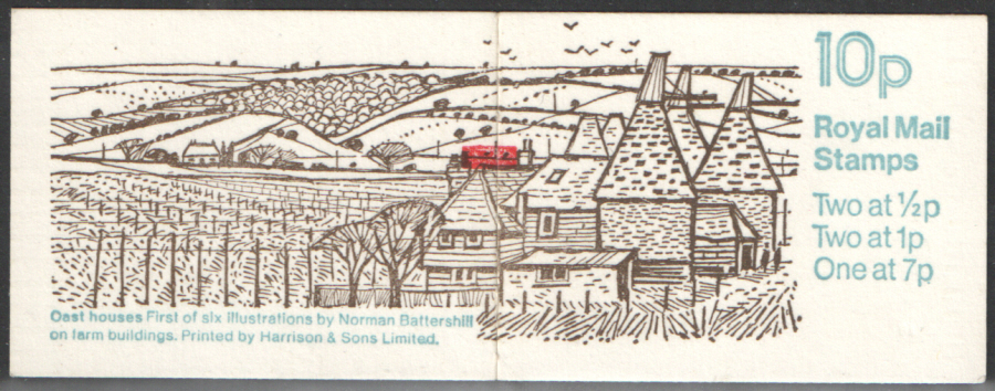 FA4 / DB6(4) + BMB Perf E1 Oast Houses 10p Folded Booklet