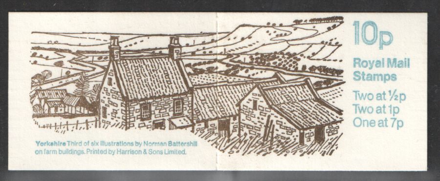 FA6 / DB6(6) Perf E2a Yorkshire 10p Folded Booklet