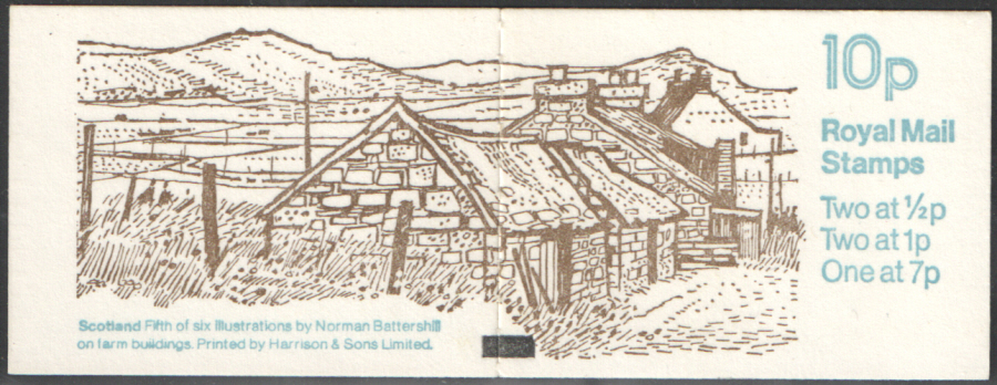FA8 / DB6(8) + BMB Perf E1 Scotland 10p Folded Booklet