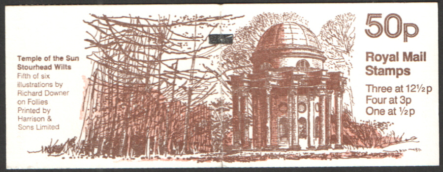 FB21A / DB9(21) + BMB Perf E1 Temple of the Sun 50p Folded Booklet