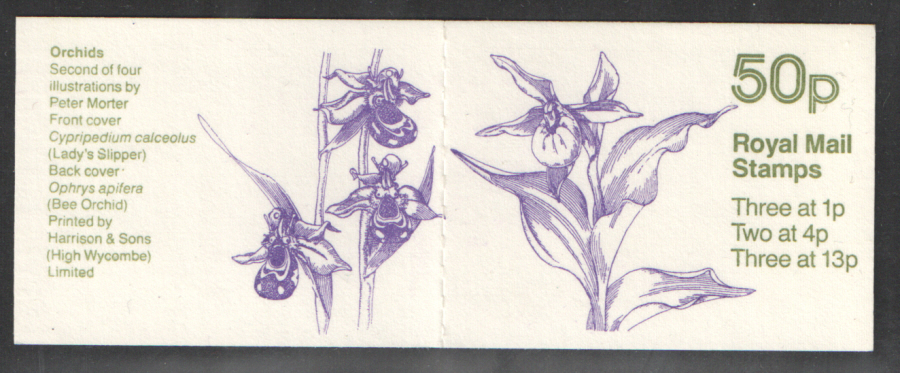 FB28 / DB9(28) Cyl B26 B7 B9 (B57) Bottom Orchids No.2 50p Folded Booklet