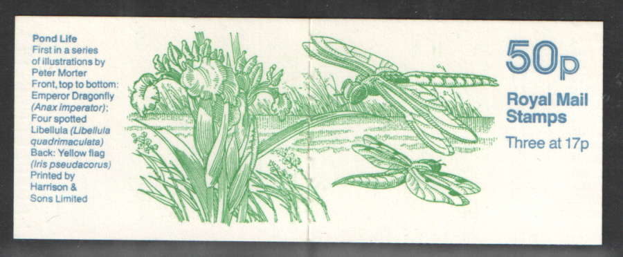FB32 / DB9(32)/1 Missing Phosphor Cyl B36 Pond Life No.1 50p Booklet