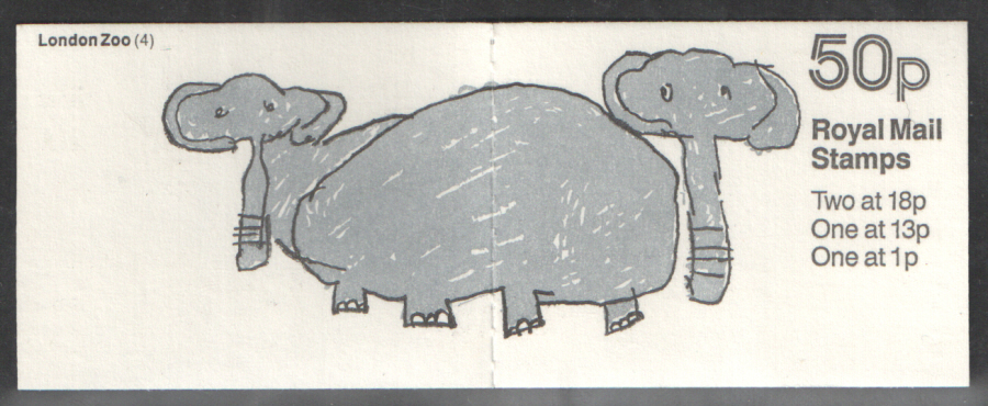 FB49 / DB9(41) Cyl B21 B4 B30 (B69) Elephants 50p Folded Booklet