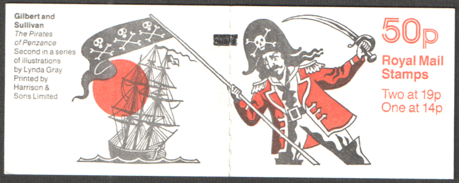 FB52 / DB14(11) + BMB Perf P Pirates of Penzance 50p Folded Booklet