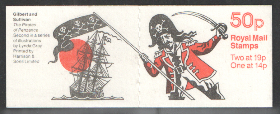 FB52 / DB14(11) Perf P Pirates of Penzance 50p Folded Booklet