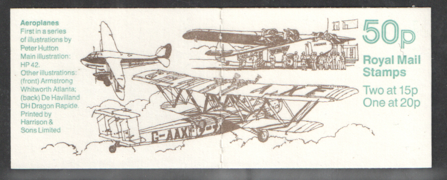 FB55 / DB14(14) all over phosphor Cyl B1 B3 (-) Aeroplanes No.1 Folded Booklet