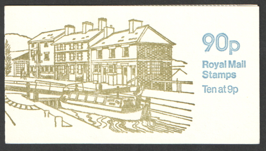 FG2A / DB8(3) Perf E1 Grand Union Canal 90p Left Margin Folded Booklet