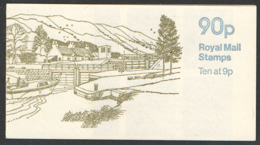 FG5A / DB8(6) Perf E1 Caledonian Canal 90p Left Margin Folded Booklet