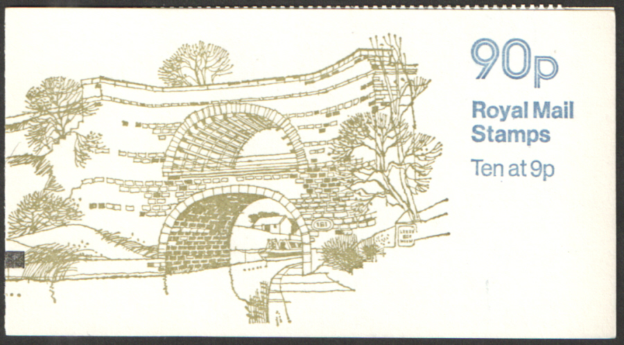 FG8B / DB8(9)A + BMB & TSV Perf E1 90p Leeds & Liverpool Canal Right Margin Folded Booklet