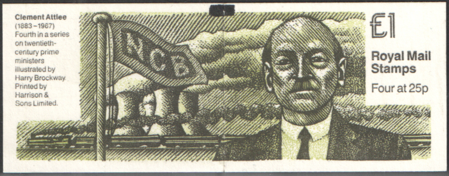 FH35 / DB14(35) + BMB Clement Attlee £1 Folded Booklet