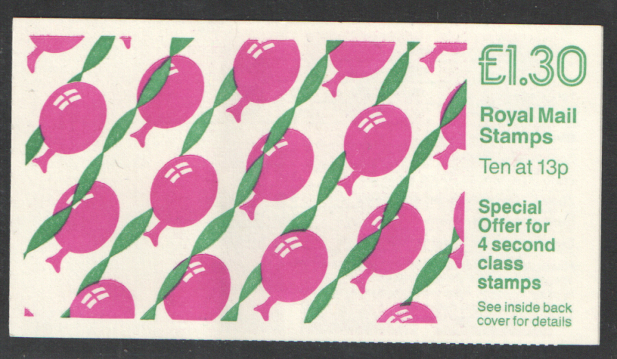 FL14B / DB7(41)A Cyl B37 (-) £1.30 Balloons Right Margin Folded Booklet