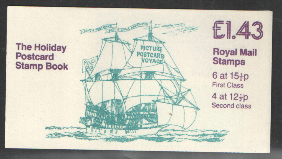 FN3A / DB11(5) Cyl B4 B2 (B50) Perf E1d £1.43 Golden Hinde Left Margin Folded Booklet