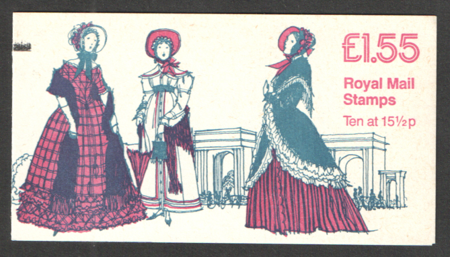 FR1B / DB8(18)A + BMB PCP1 £1.55 Women's Costumes No.3 Right Margin Folded Booklet