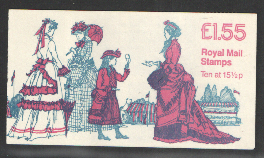 FR3A / DB8(20) Cyl B7 PCP1 £1.55 Women's Costumes No.5 Left Margin Folded Booklet