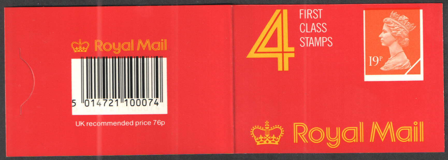 GD4 / DB17(9)A Colour shift on cover Harrison / Walsall 76p Barcode Booklet