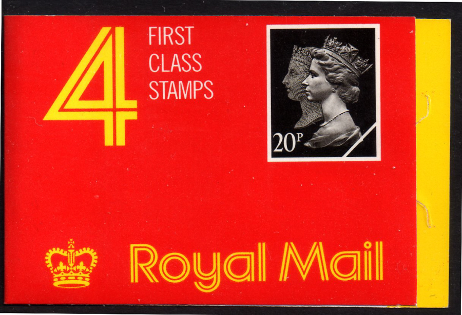 JB2a / DB17(14)/1 Missing Yellow Rotary 4 x 20p Penny Black Anniversary Booklet