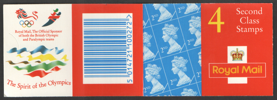 HA10 / DB19(30) Cyl W11 (Sliced 1) W15 Walsall 4 x 2nd Class Barcode Booklet