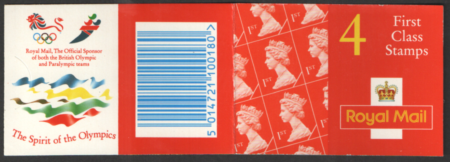 HB10 / DB20(43) Olympic Walsall 4 x 1st Class Barcode Booklet