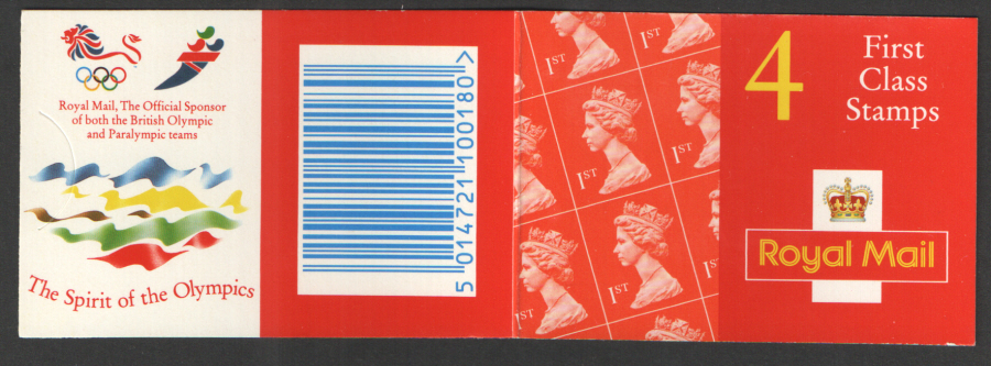 HB10a / DB20(43)A Olympic Walsall 4 x 1st Class Barcode Booklet