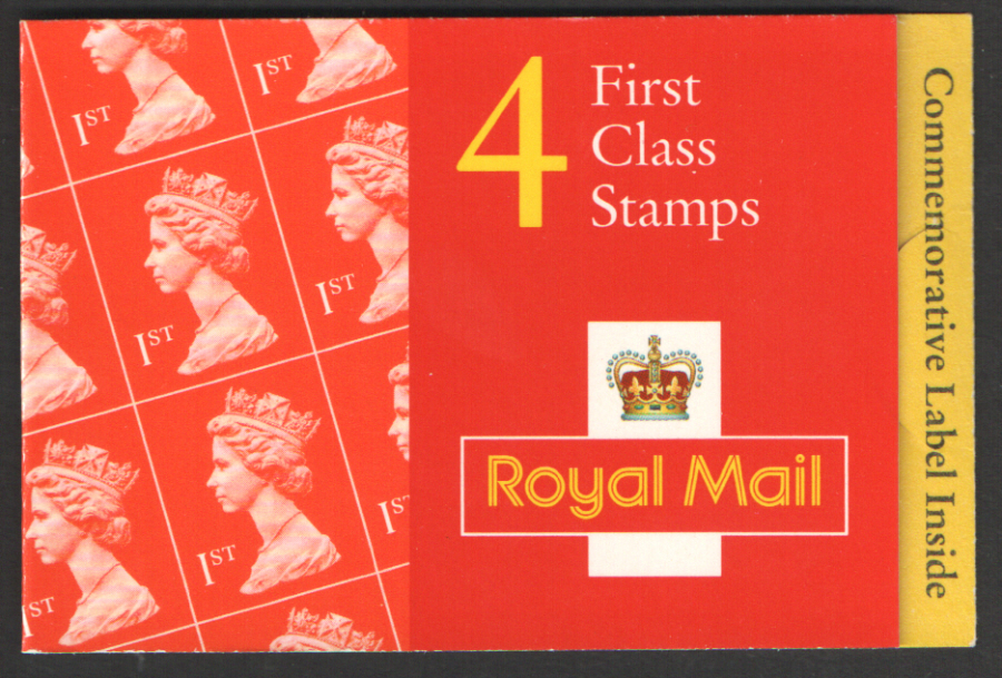 HB15 / DB22(5) Cyl W56 W59 W69 Commonwealth Heads 4 x 1st Class Barcode Booklet