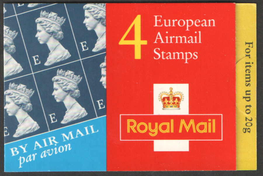 HF1a / DB18(34)A Cyl W1 9mm Phos Torn Right Walsall 4 x 'E' Barcode Booklet